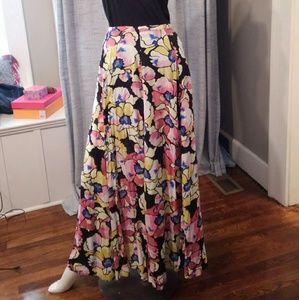 Free People Floral Maxi Skirt Size 2 NWT